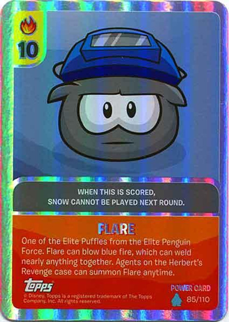 Club Penguin Card-Jitsu Water Series 4 Foil Power Card Flare #85