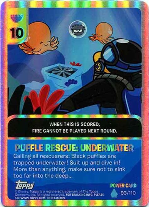 Club Penguin Card-Jitsu Water Series 4 Foil Power Card Puffle Rescue:Underwater #93