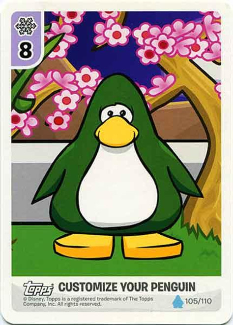 Club Penguin Card-Jitsu Water Series 4 Customize Your Penguin Secrets of the Bamboo Forest - Dark Green Penguin #105