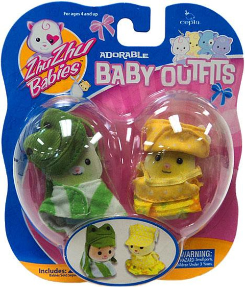 Zhu Zhu Pets Babies Baby Outfits Frog & Yellow Polka Dots Accessory Set