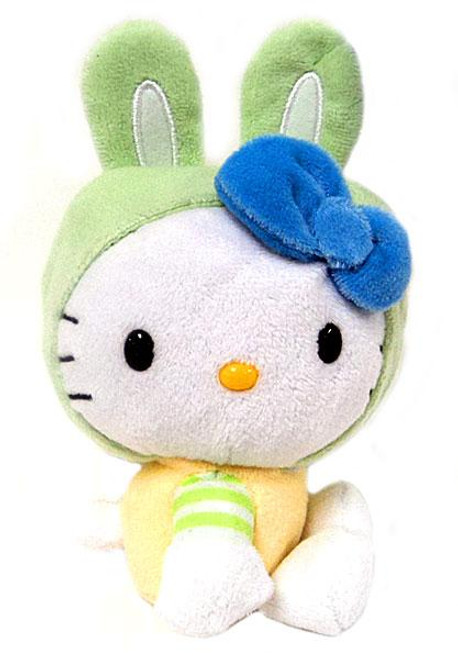 Hello Kitty Green Bunny Ears Plush