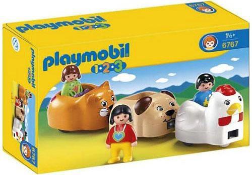 Playmobil 1.2.3 Animal Train Set #6767