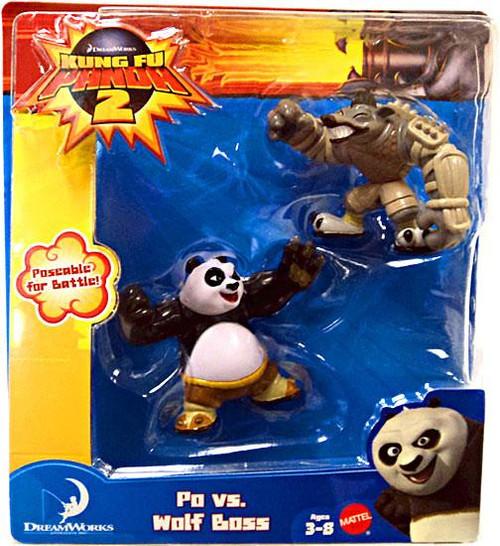 Kung Fu Panda 2 Po vs. Wolf Boss Mini Figure 2-Pack
