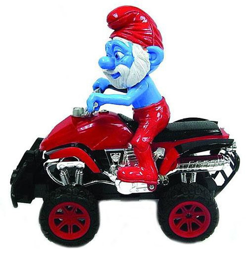 The Smurfs ATV Rider Papa Smurf R/C Vehicle