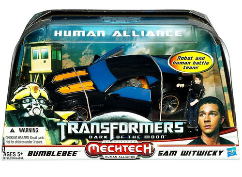 Transformers Dark of the Moon Mechtech Human Alliance Bumblebee with Sam Witwicky Action Figure Set