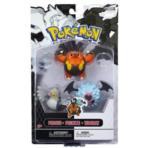 Pokemon Black & White Series 3 Basic Pignite, Woobat & Pidove Figure 3-Pack
