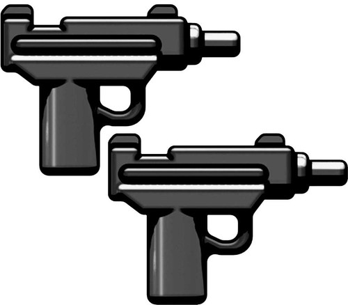 BrickArms Weapons Set of 2 Micro Uzi SMG 2.5-Inch [Black]