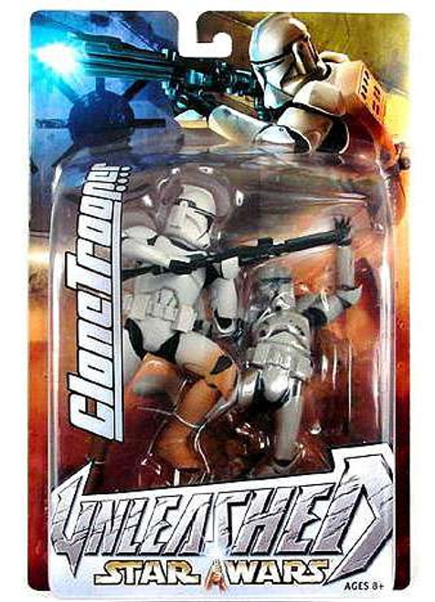 Star Wars Attack of the Clones Unleashed Series 7 White Clone Trooper Action Figure