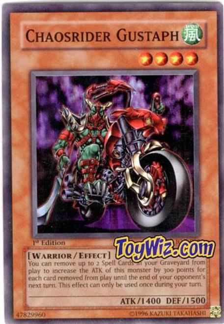 YuGiOh Invasion of Chaos Super Rare Chaosrider Gustaph IOC-018
