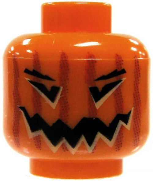 LEGO Minifigure Parts Orange Jack O' Lantern Minifigure Head [Loose]