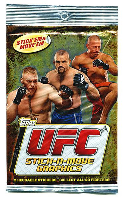 UFC 2010 Stick-N-Move Graphics Trading Card Pack