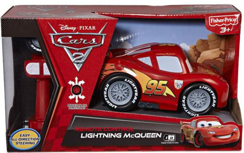 Fisher Price Disney Cars Cars 2 R/C Cars Lightning McQueen 8-Inch Remote Control Car