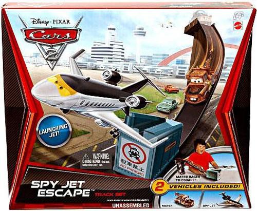 Disney Cars Cars 2 Playsets Spy Jet Escape Diecast Car Track Set