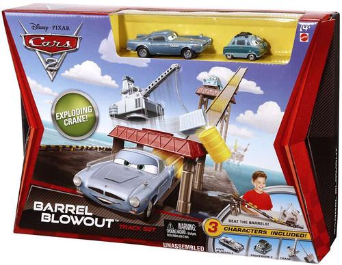 Disney Cars Cars 2 Playsets Barrel Blowout Diecast Car Track Set [With Professor Z]