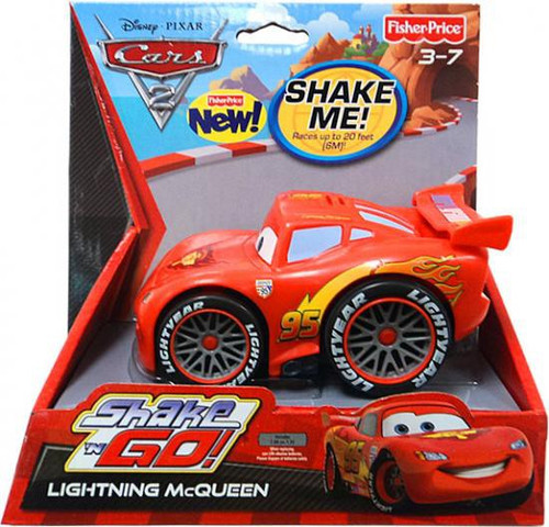 Fisher Price Disney Cars Cars 2 Shake 'N Go Lightning McQueen Shake 'N Go Car [Piston Cup Winner]