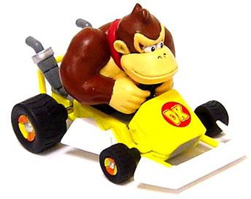 Super Mario Mario Kart Donkey Kong 4-Inch Mini Figure [Go-Kart]