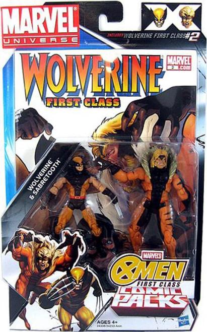 Marvel Universe Marvel's Greatest Battles Comic Packs Wolverine & Sabretooth Action Figure 2-Pack