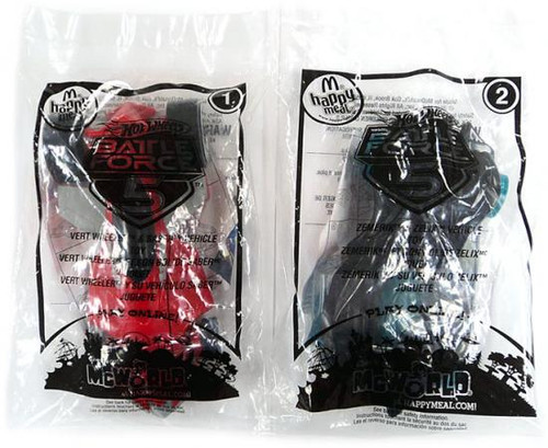 Hot Wheels Battle Force 5 Happy Meal Set of 2 #1 & #2 Cars