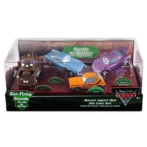 Disney Cars Cars 2 1:43 Multi-Packs Secret Agent Ops Exclusive Diecast Car Set