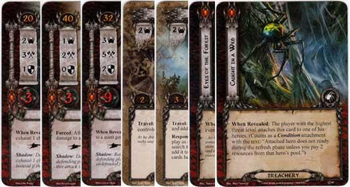 The Lord of the Rings The Card Game Lord of the Rings LCG Spiders of Mirkwood Encounter Set [12 cards]