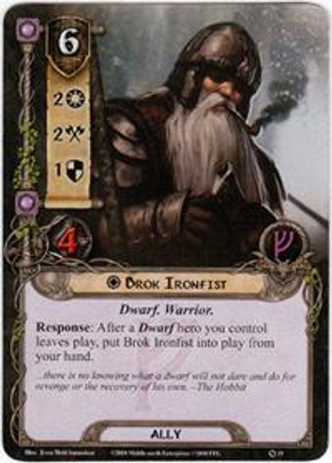 The Lord of the Rings The Card Game Core Set Rare Brok Ironfist #19