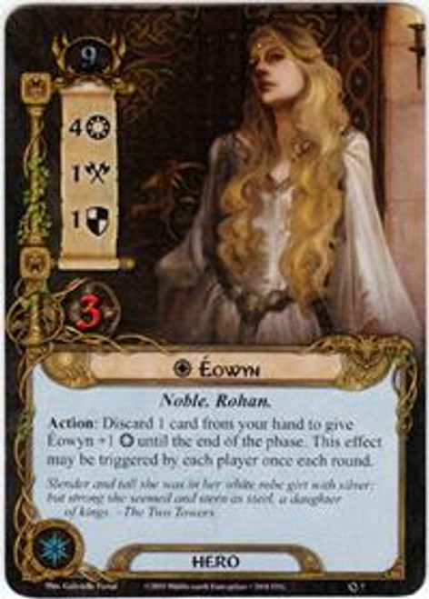 The Lord of the Rings The Card Game Core Set Rare Eowyn #7