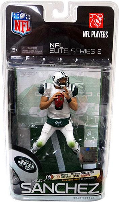 McFarlane Toys NFL New York Jets Sports Picks Elite 2011 Series 2 Mark Sanchez Action Figure [All White Bad Weather Uniform Collector Level Chase]