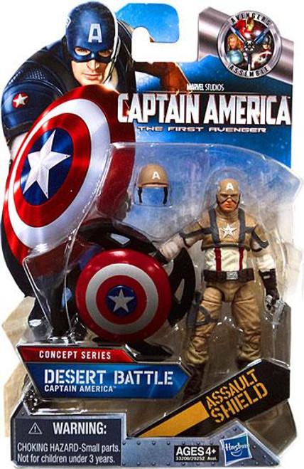 The First Avenger Concept Series Desert Battle Captain America Action Figure #16