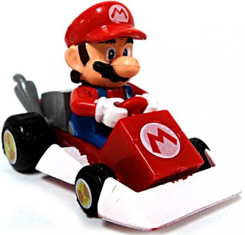Super Mario Mario Kart Gacha Mario 1 1/2-Inch Pull Back Racer [Square Front Bumper]