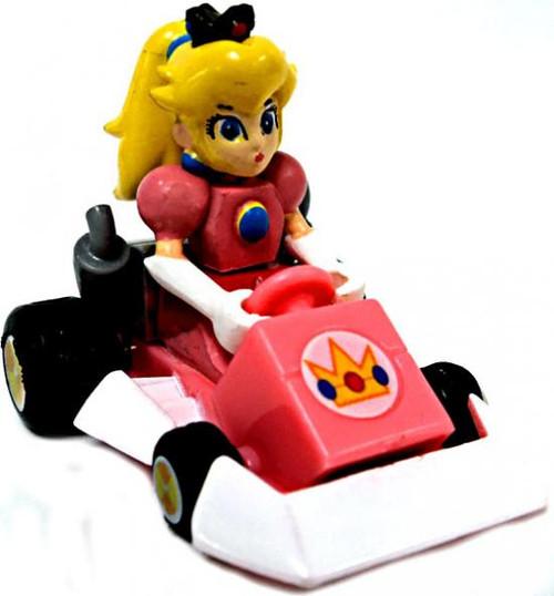 Super Mario Mario Kart Gacha Princess Peach 1 1/2-Inch Pull Back Racer [Square Front Bumper]