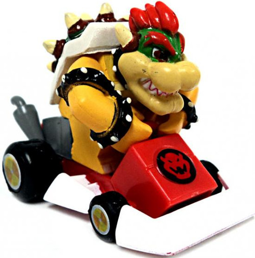 Super Mario Mario Kart Gacha Bowser 1 1/2-Inch Pull Back Racer [Square Front Bumper]