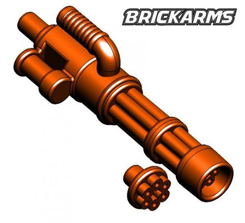 BrickArms Weapons Minigun 2.5-Inch [Trans Orange with No Ammo]