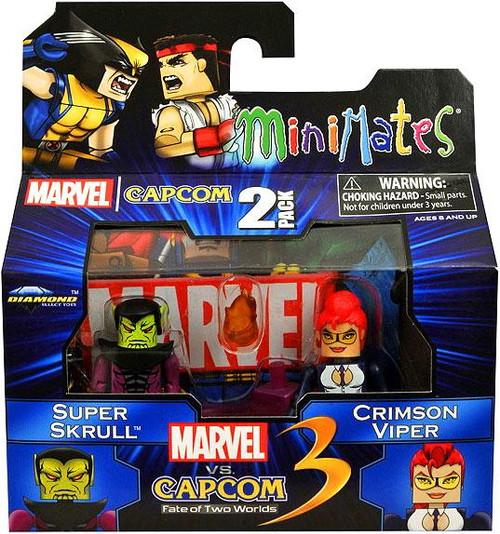 Marvel vs Capcom 3 Minimates Series 2 Super Skrull Vs. Crimson Viper Minifigure 2-Pack
