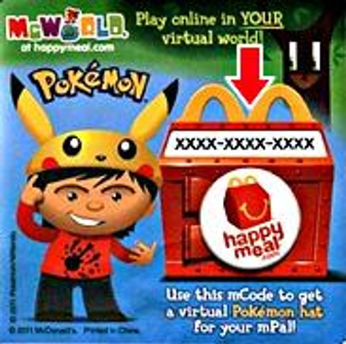 Pokemon Code for Online Virtual Hat