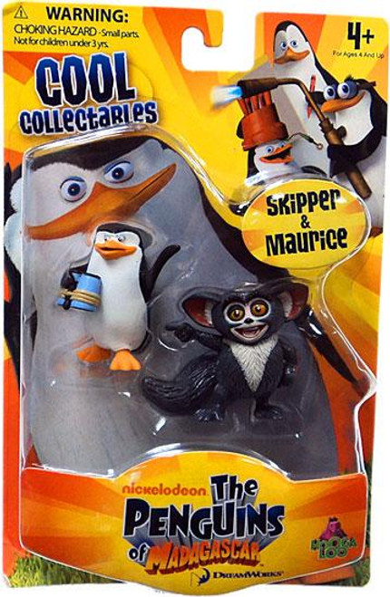 The Penguins of Madagascar Cool Collectables Skipper & Maurice Mini Figure 2-Pack