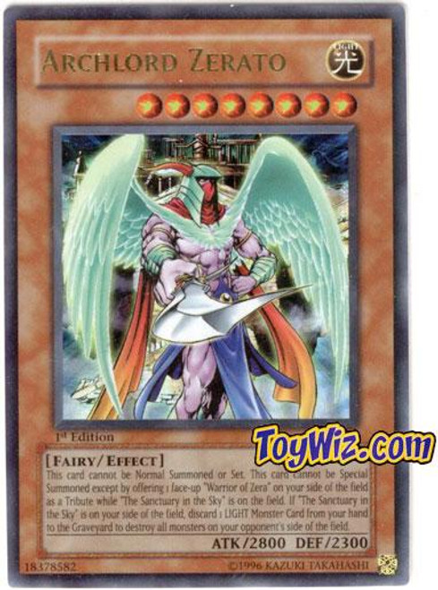YuGiOh Ancient Sanctuary Ultra Rare Archlord Zerato AST-034