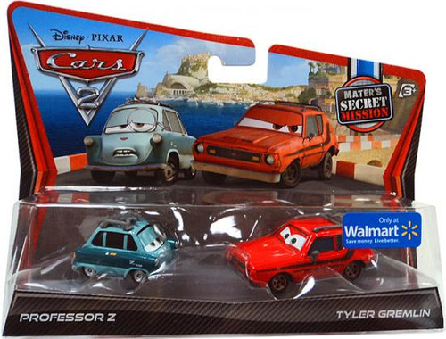 Disney Cars Cars 2 2-Packs Professor Z & Tyler Gremlin Exclusive Diecast Car 2-Pack