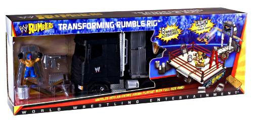WWE Wrestling Rumblers Series 1 Transforming Rumble Rig Exclusive Mini Figure Playset