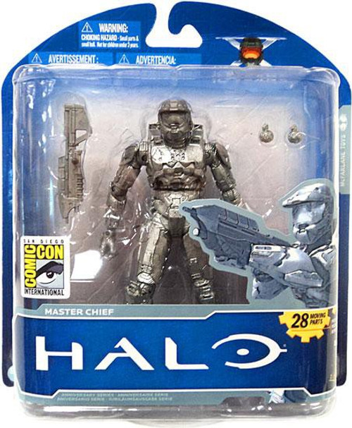 McFarlane Toys Halo 10th Anniversary Platinum Master Chief Exclusive Action Figure