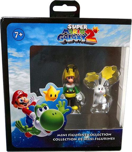 Super Mario Galaxy 2 Bee Luigi & Rabbit Figure 2-Pack