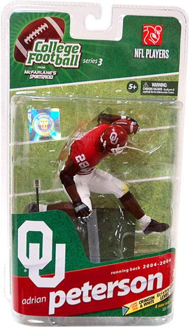 McFarlane Toys NCAA College Football Sports Picks Series 3 Adrian Peterson Action Figure [Red Jersey]