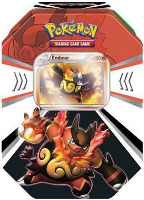 Pokemon Black & White Fall 2011 Evolved Battle Action Emboar Collector Tin