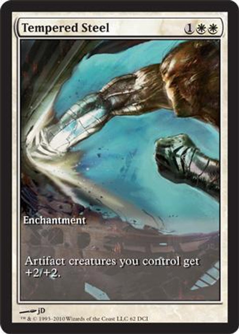 MtG Assorted Promo Cards Promo Tempered Steel [Scars of Mirrodin Game Day]
