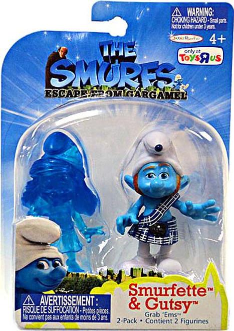 The Smurfs Movie Grab 'Ems Smurfette Translucent] & Gutsy Exclusive Mini Figure 2-Pack