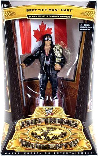 "WWE Wrestling Defining Moments Series 5 Bret ""Hit Man"" Hart Action Figure"