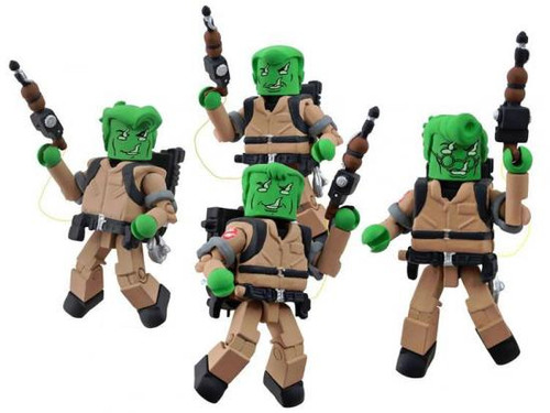 The Real Ghostbusters Minimates Series 3 Anti-Ghost Busters Minifigure 4-Pack