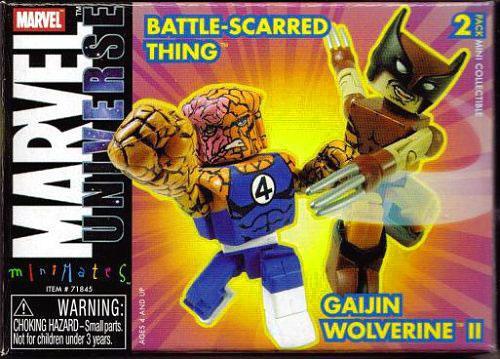 Marvel Universe Minimates Battle-Scarred Thing & Gaijin Wolverine II Minifigure 2-Pack
