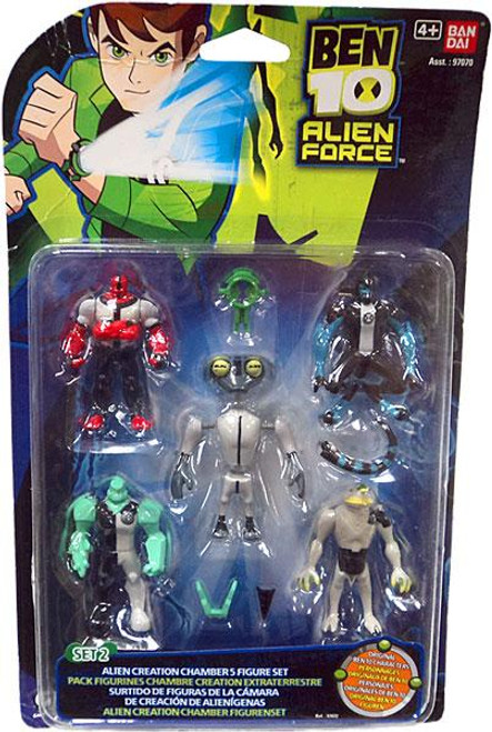 Ben 10 Alien Force Alien Creation Chamber Mini Figure Set #2 [Set #2, Damaged Package]