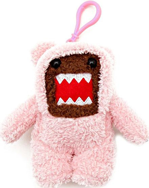 Teddy Bear Domo 4-Inch Plush Clip On [Pink]