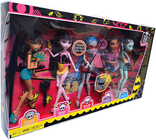 Monster High Gloom Beach 10.5-Inch Doll 5-Pack